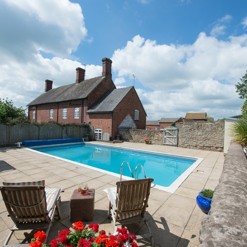 Outdoor Swimming Pool at Shropshire Bed and Breakfast Accommodation