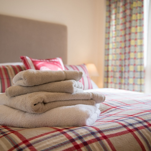Towels provided at The Cart Shed and Paddock Cottage Holiday Accommodation in Newport Shropshire