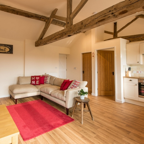 Living Room at The Cart Shed and Paddock Cottage Holiday Accommodation in Shropshire