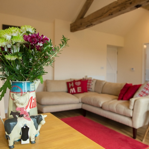 Wood Beams at The Cart Shed and Paddock Cottage Holiday Accommodation in Shropshire England