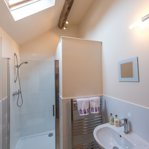 Shower room at The Cart Shed and Paddock Cottage Holiday Accommodation in Newport Shropshire