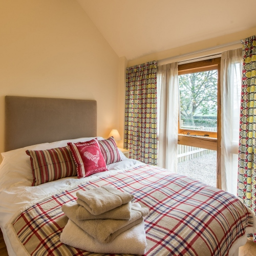 Double Bedroom at The Cart Shed and Paddock Cottage Holiday Accommodation in Newport Shropshire