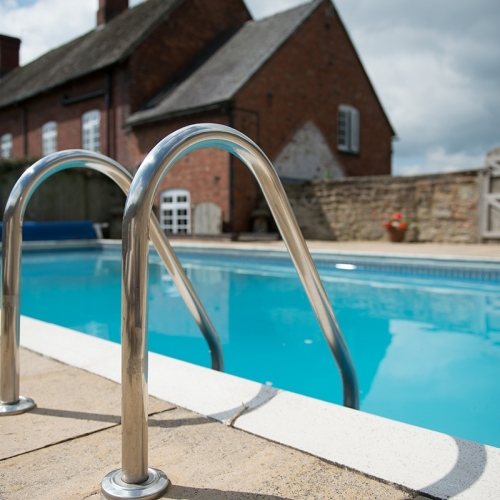 Swimming Pool at Self Catering Accommodation at Moreton Hall, Shropshire
