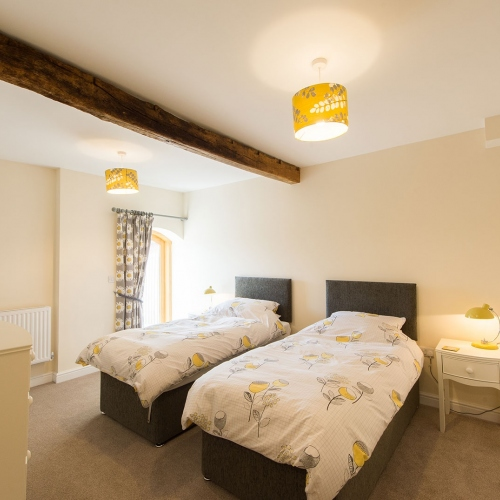 Twin room at The Shippen Self Catering at Moreton Hall Farm Newport Shropshire