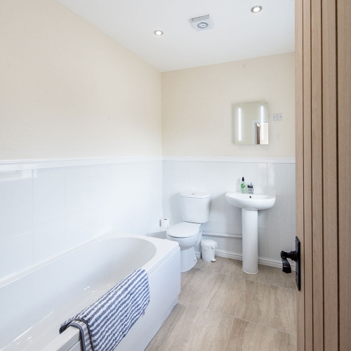 Bathroom at The Shippen Self Catering at Moreton Hall Farm Newport Shropshire
