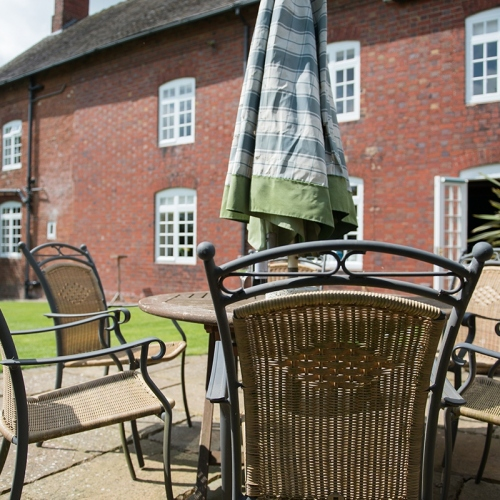 Shropshire Bed and Breakfast Accommodation Outdoor Table and Chairs