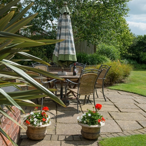 Patio Area at Shropshire Bed and Breakfast Accommodation Garden UK