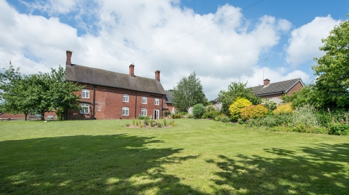 Large Garden Moreton Hall Farmhouse Bed and Breakfast Accommodation in Newport, Shropshire